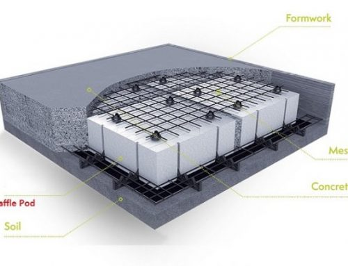 Thermal resistance of waffle pod slabs for NCC energy efficiency